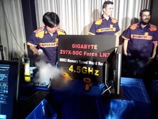 기가바이트 Z97X-SOC FORCE LN2, 오버클럭대회서 우승 휩쓸어
