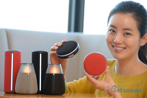 LG전자, 인테리어 소품으로 어울리는 포터블 스피커 3종 출시