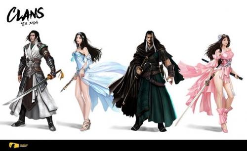 시선게임즈, '클랜즈:달의그림자' 주요 캐릭터 4인 공개