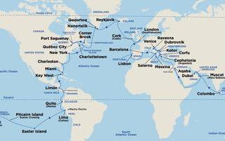 하나투어, 110일간의 세계일주 크루즈 상품 선봬