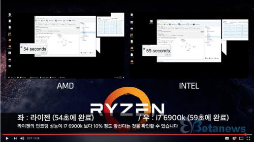 인텔 하이엔드 CPU 넘어선 AMD '라이젠', 인텔의 독주 막나?