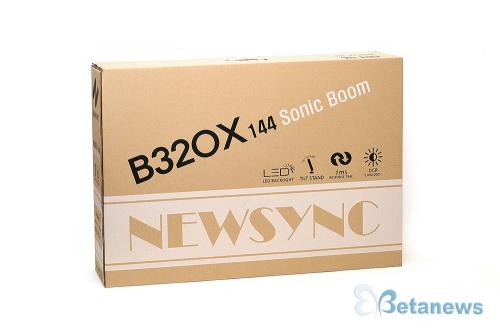 게이밍 모니터 대세 하드캐리각! '비트엠 Newsync B320X 144 소닉붐'