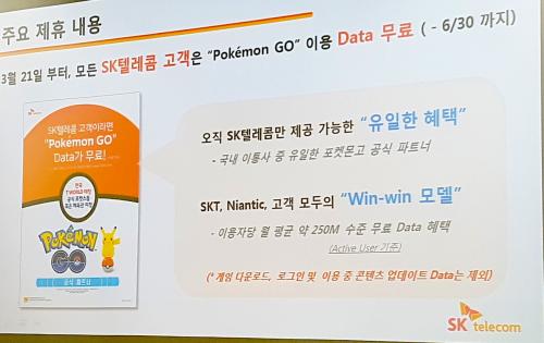 SKT, 나이언틱과 협력해서 포켓몬고 게임 데이터 무료 혜택